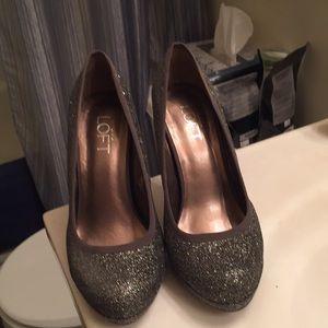 Glitter size seven Ann Taylor Loft heels